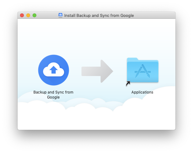 backup sync google install mac