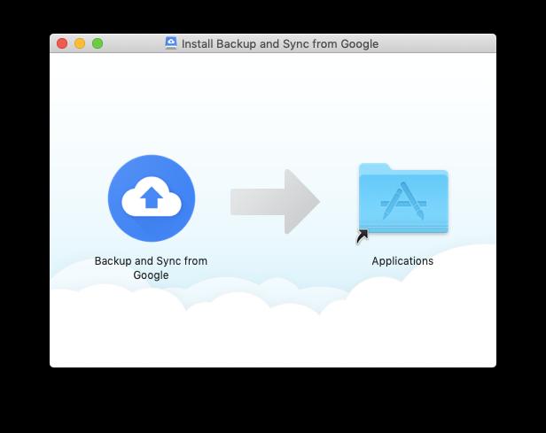 backup sync google install mac