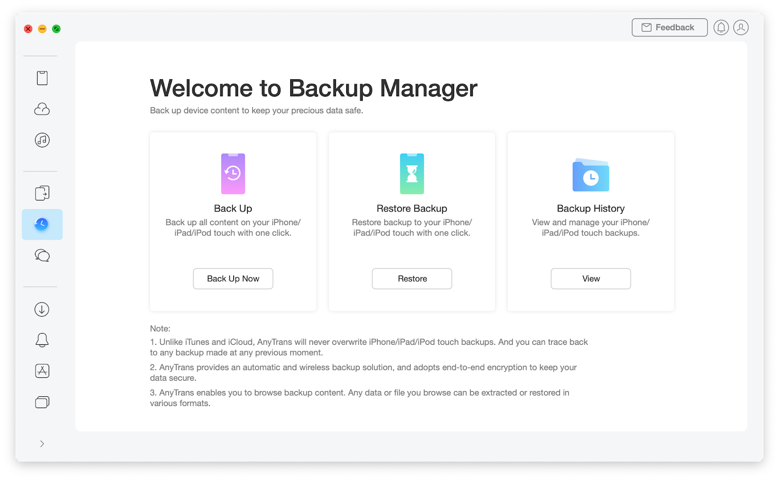 backup your phone with anytrans for ios