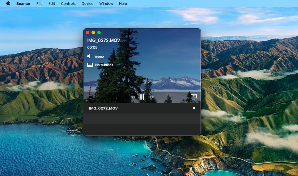 Beamer, a streaming DLNA app