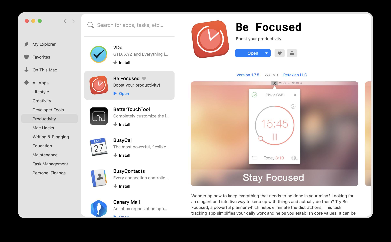be focused app