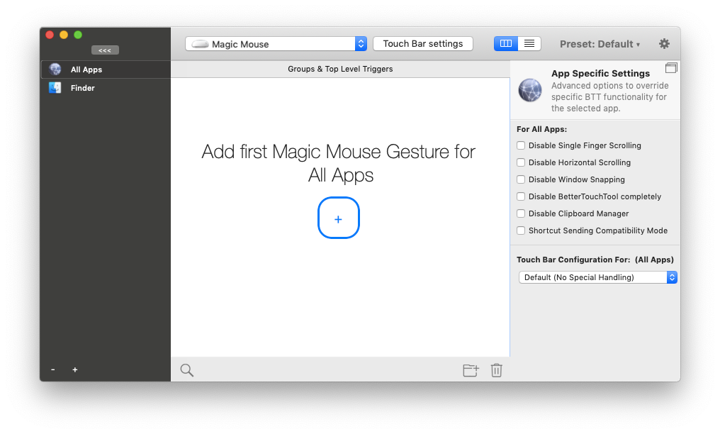 bettertouchtool magic mouse