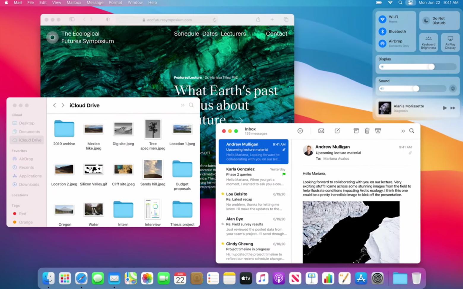 macOS Big Sur design