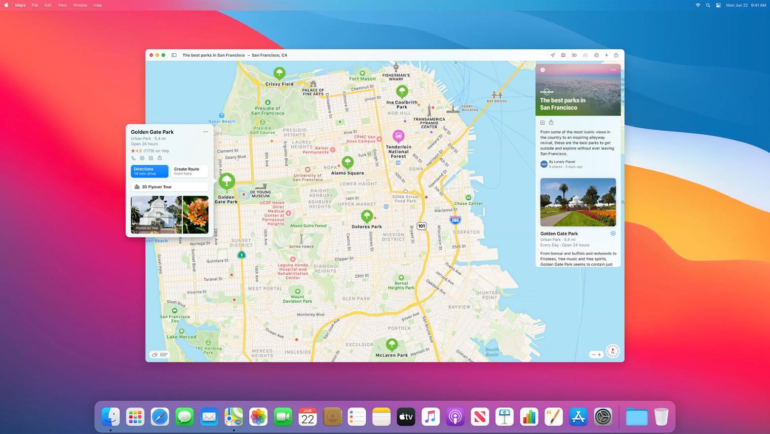 Big Sur Maps app