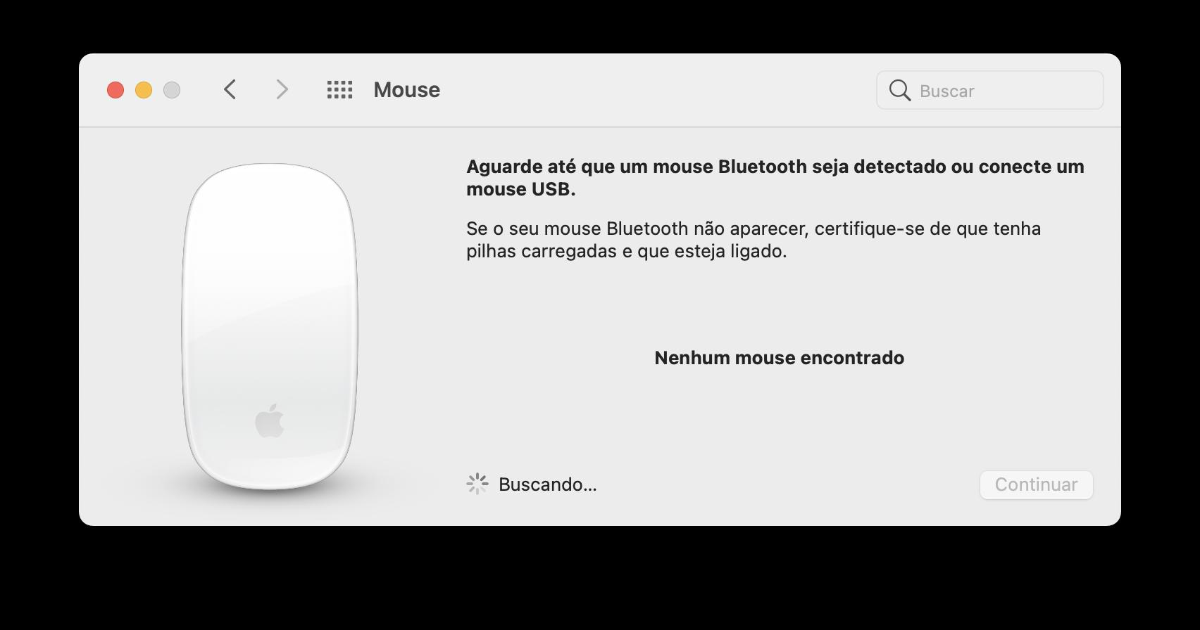 Mouse Bluetooth no Mac