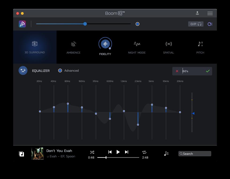 Boom 3D equalizer Mac sound