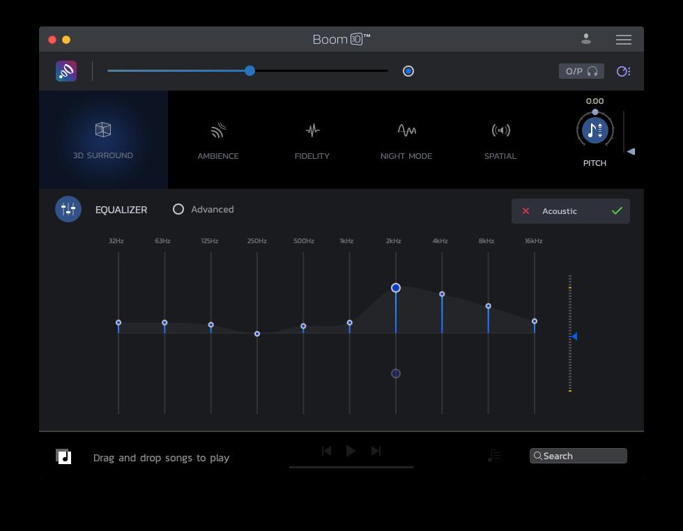Boom 3D music equalizer volume booster Mac