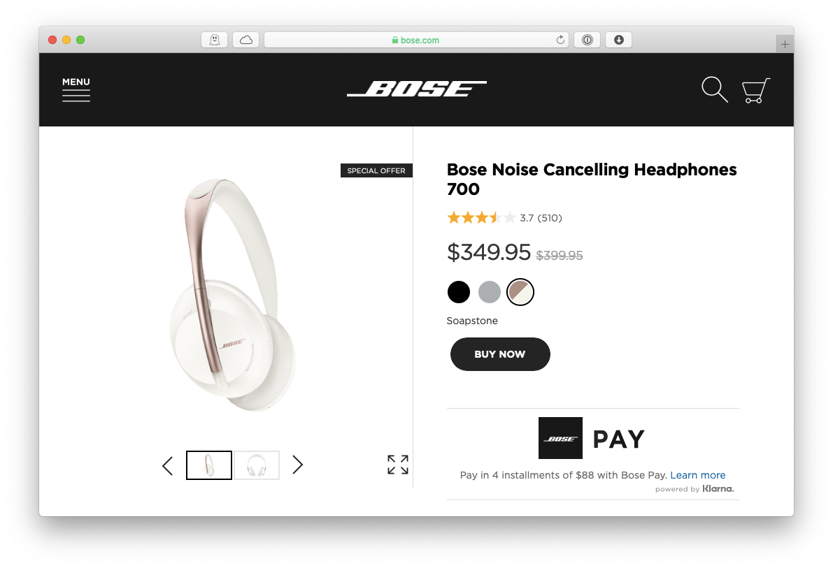 Bose headphones noise cancelling Mac