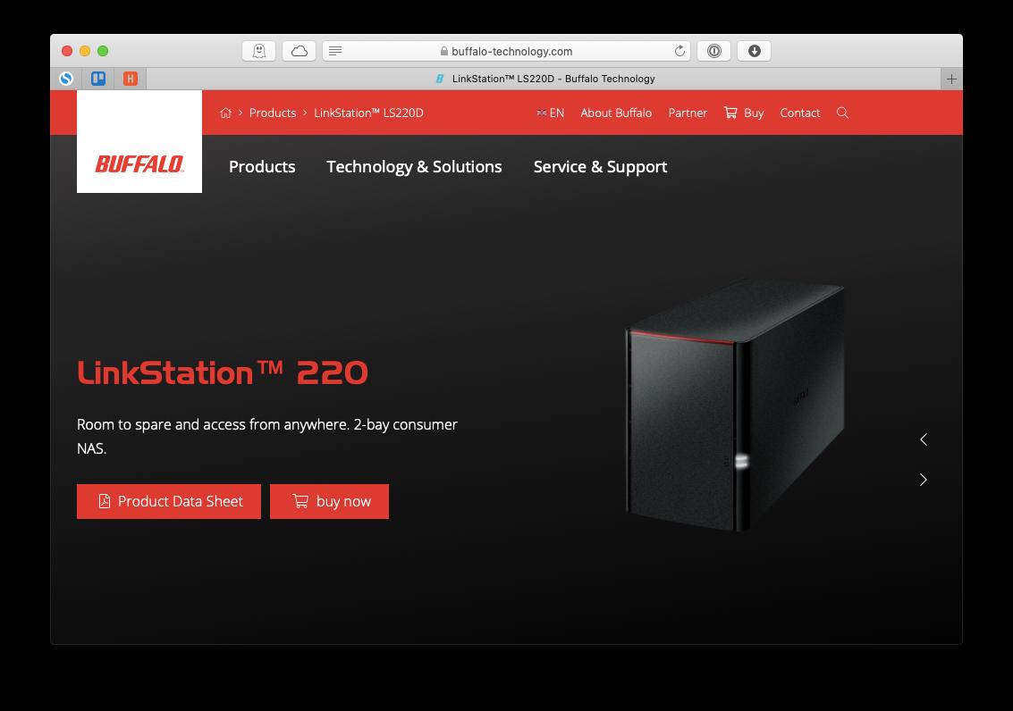Buffalo LinkStation LS220D Mac NAS device