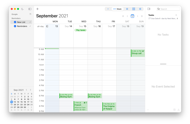 a versatile calendar app