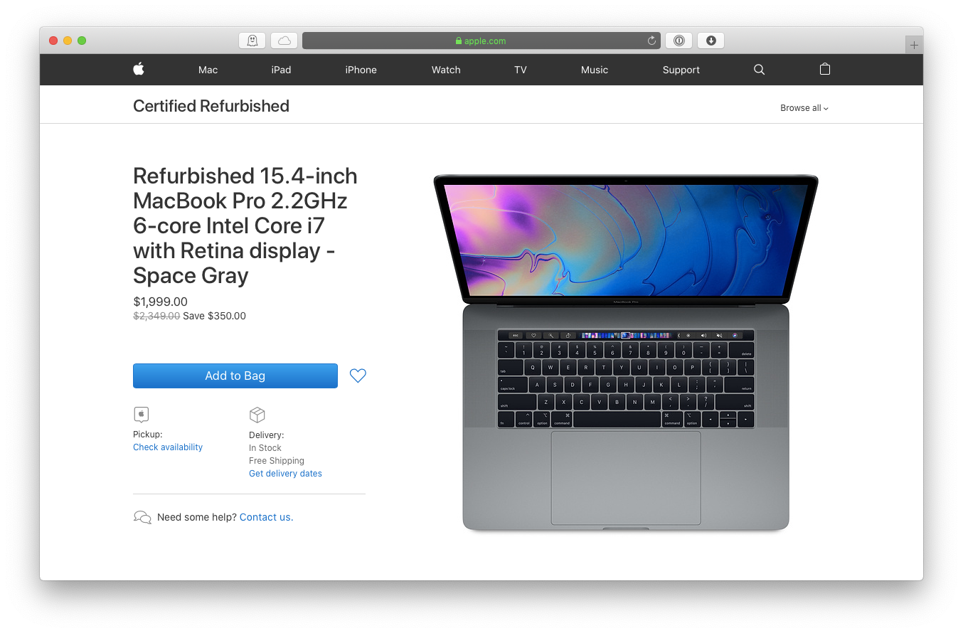 buy laptop Apple macbook pro refurbished