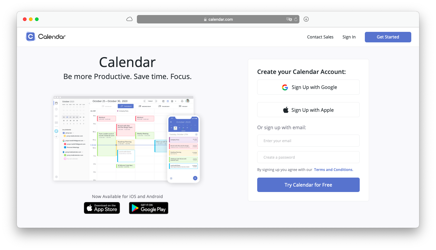 calendar with scheduling feature