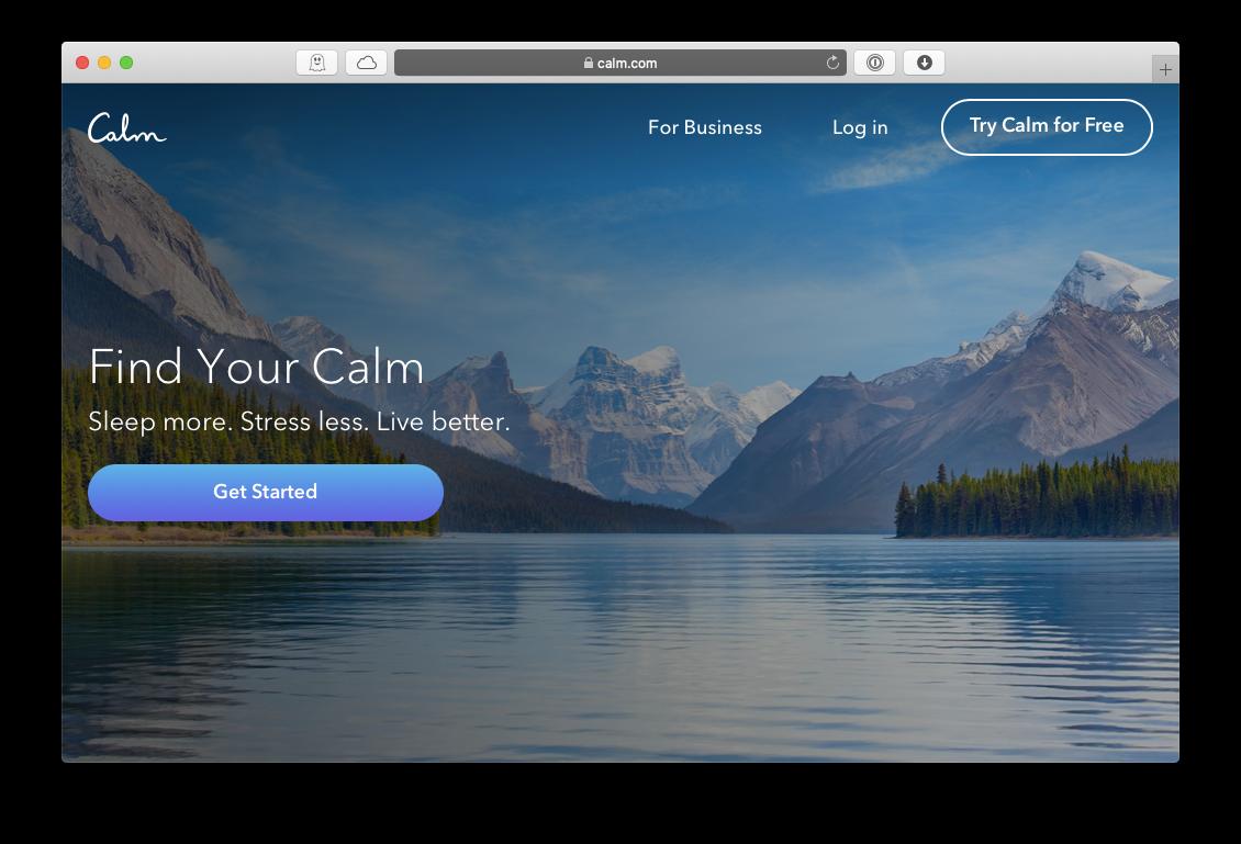 Calm meditation Apple TV Mac