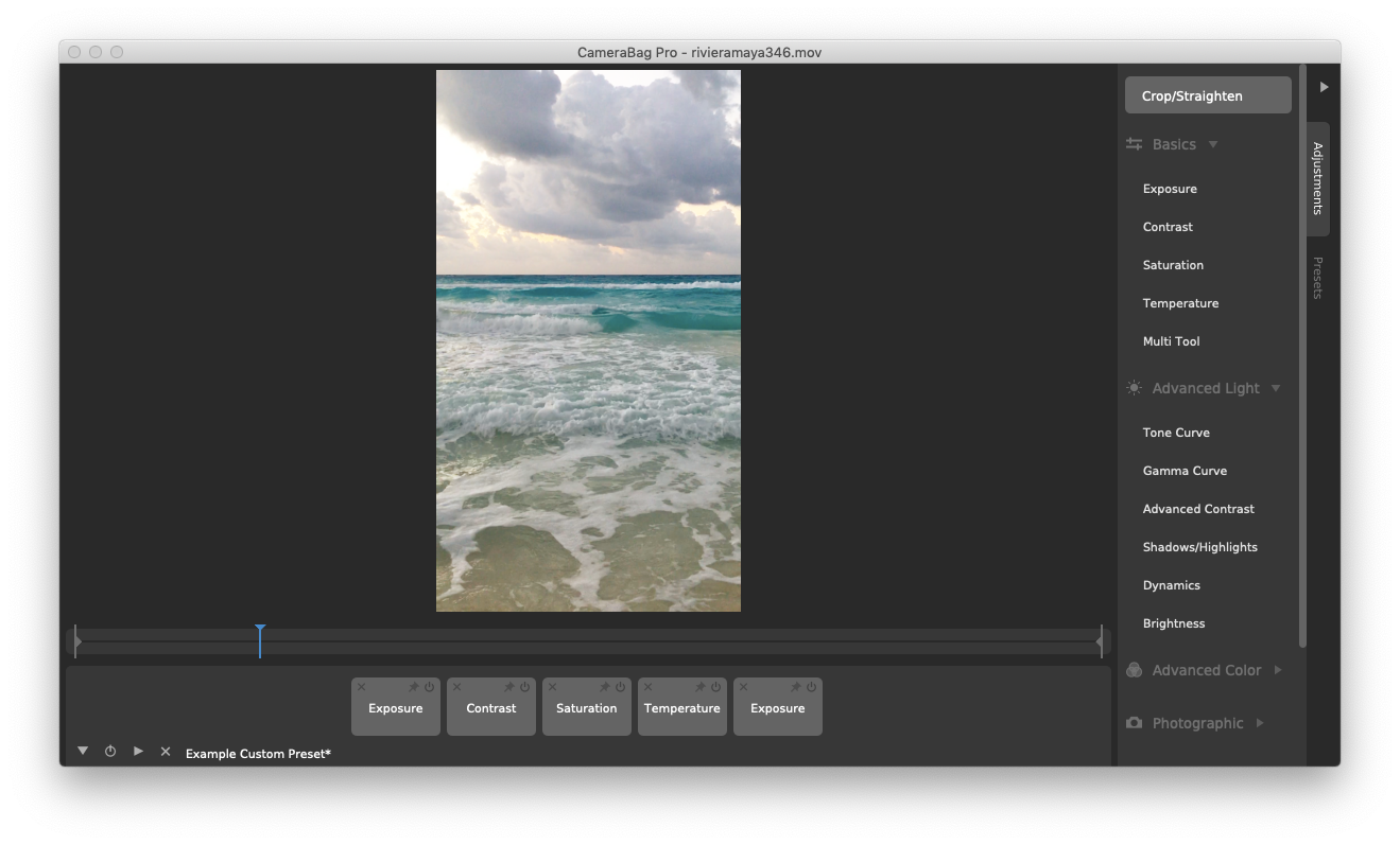 Camerabag Pro edit photo video Mac
