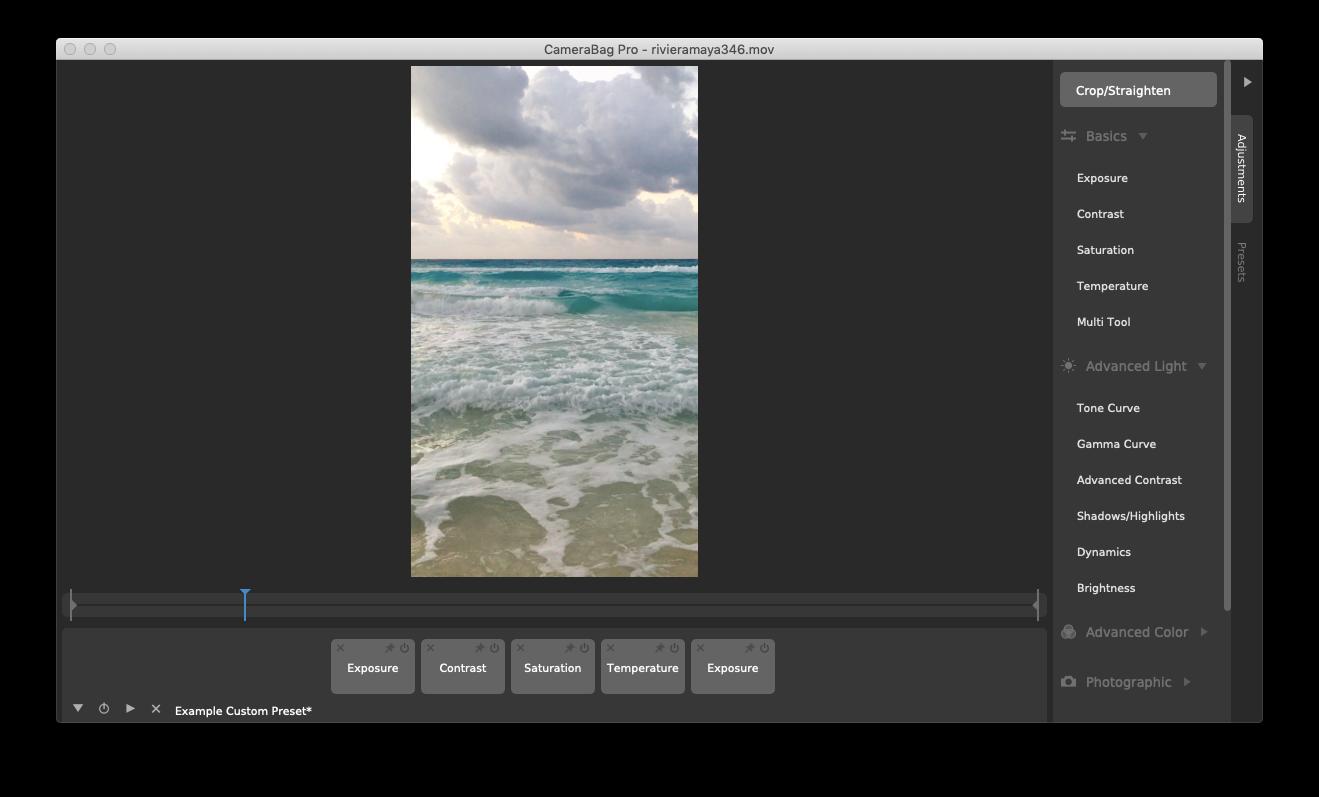 Camerabag Pro edit photo video Mac