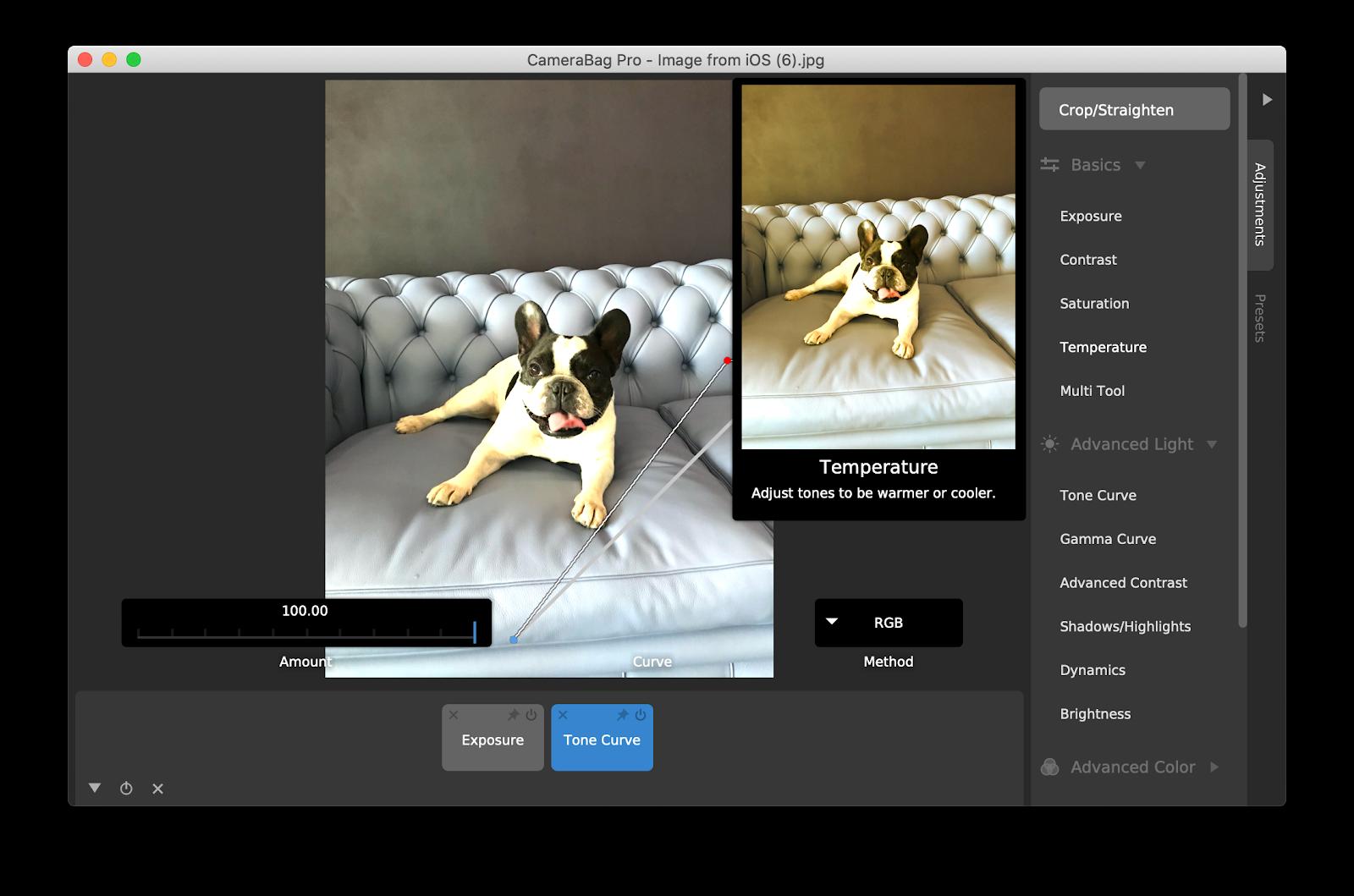 CameraBag Pro photo editing app
