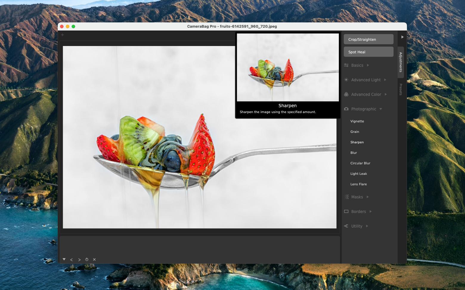 CameraBag Pro photo editing tool