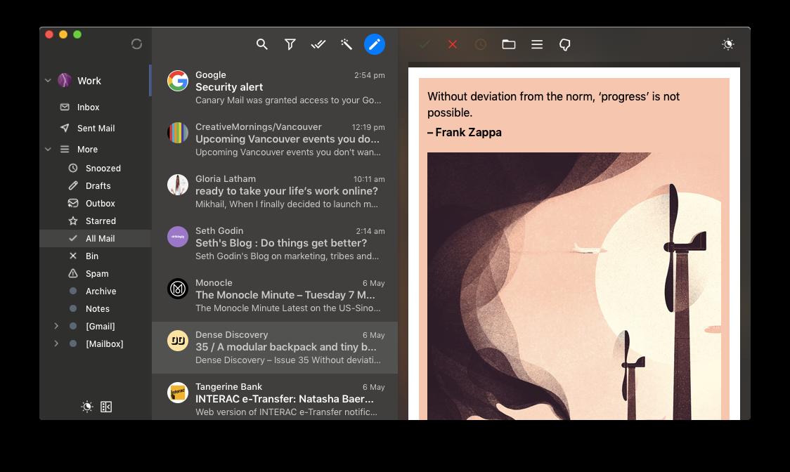 Canary Mail app mac