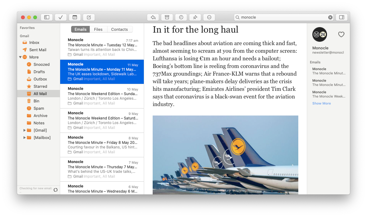Canary Mail email client Mac secure
