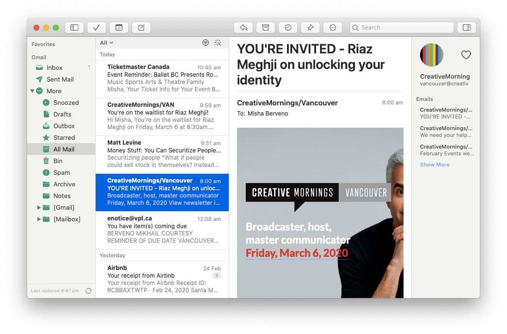 Canary Mail email encrypted client Mac