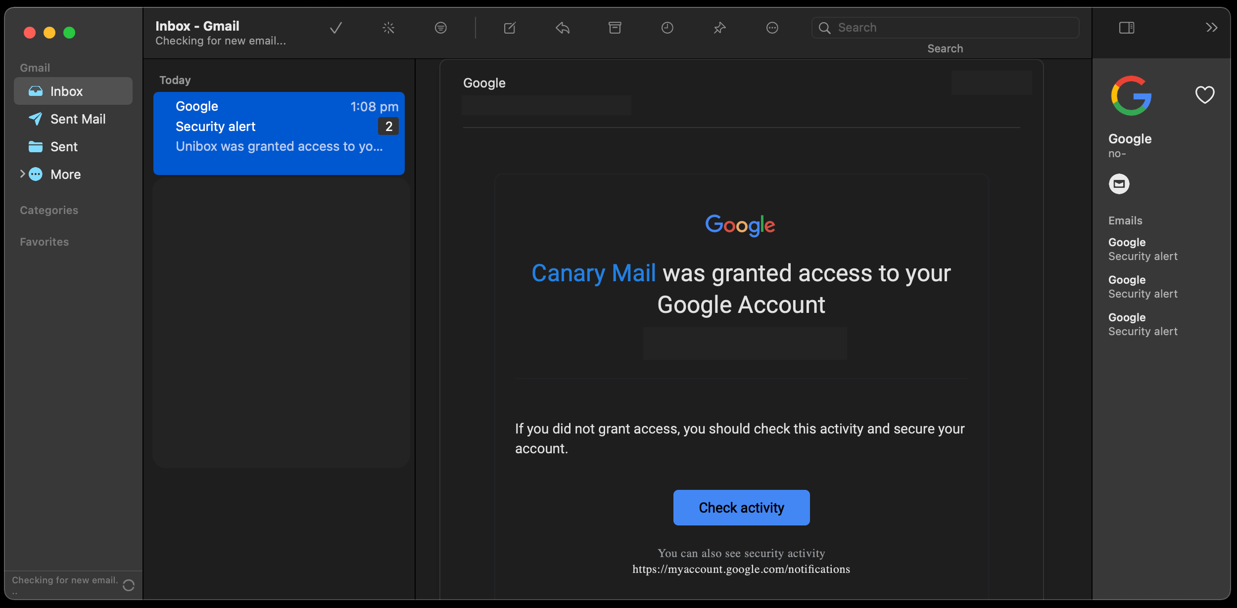 canary mail mac