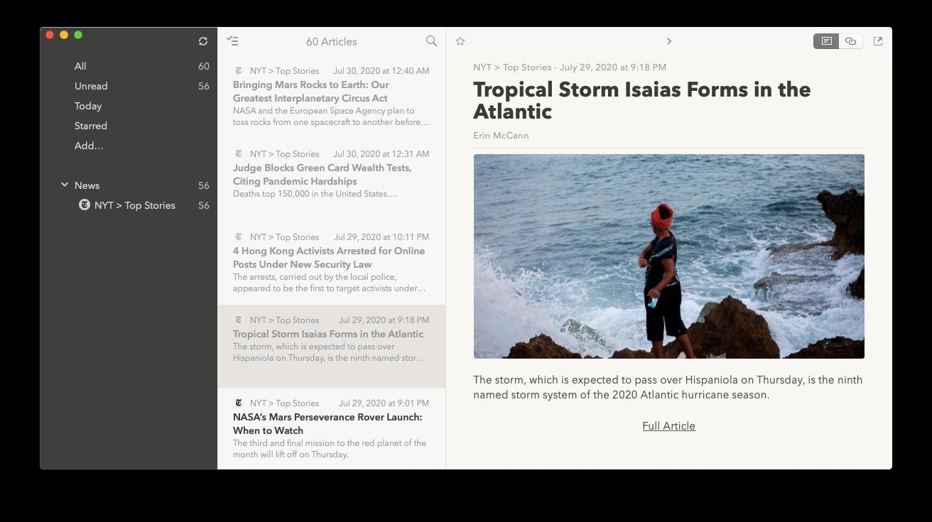 Cappuccino news app Mac