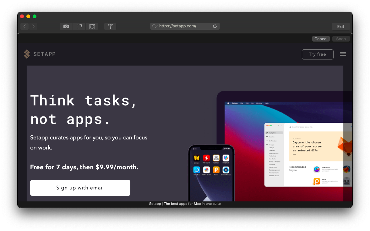 Capto screen capture tool