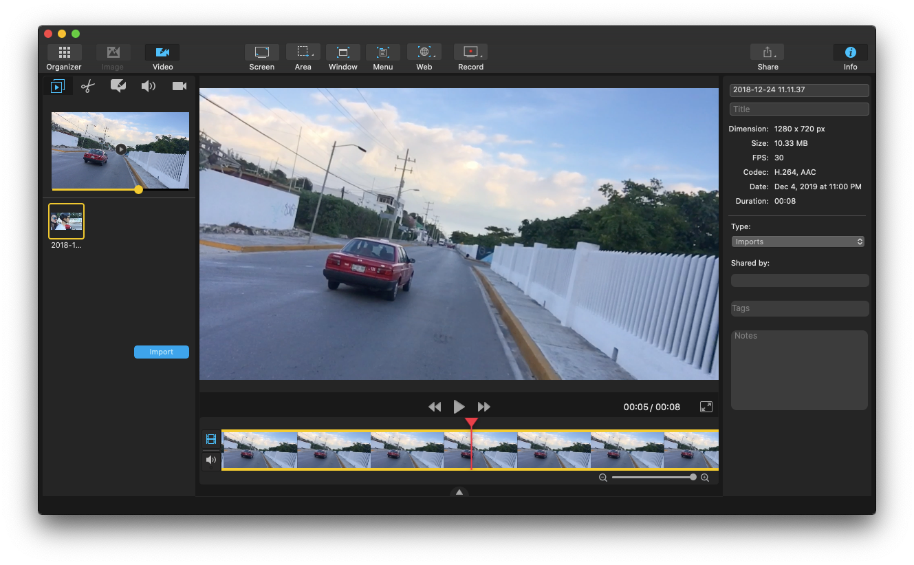 capto mac video editing software