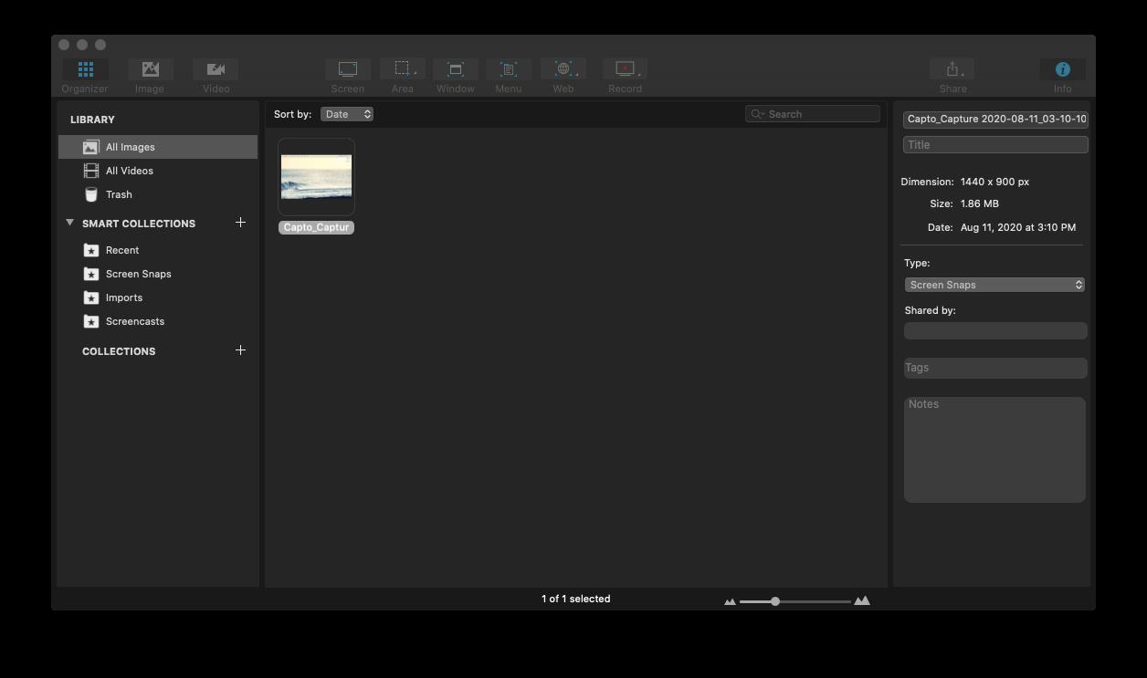 Capto record screen Mac