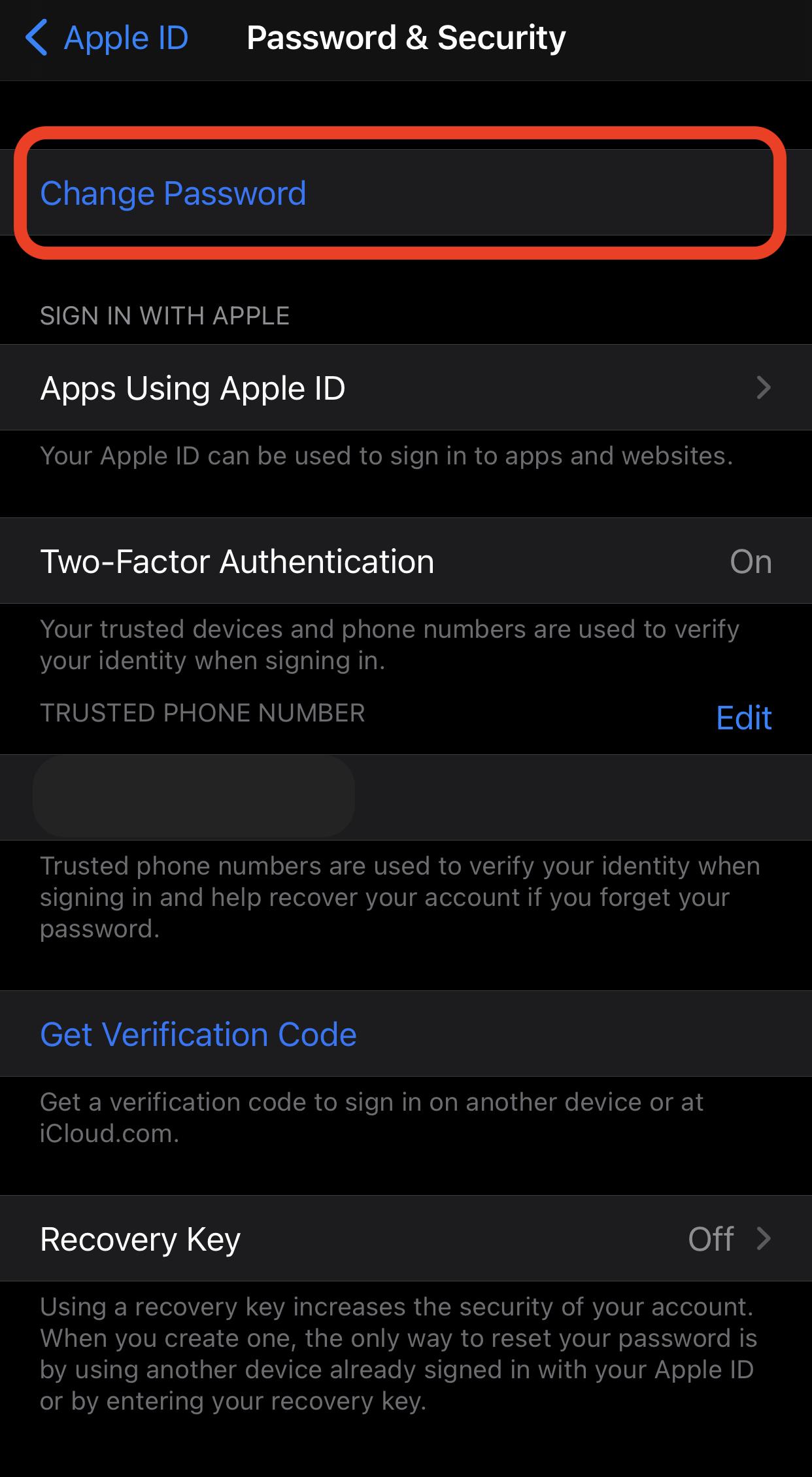 change apple id iphone