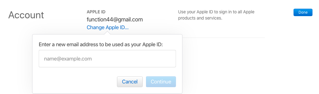 change email apple id