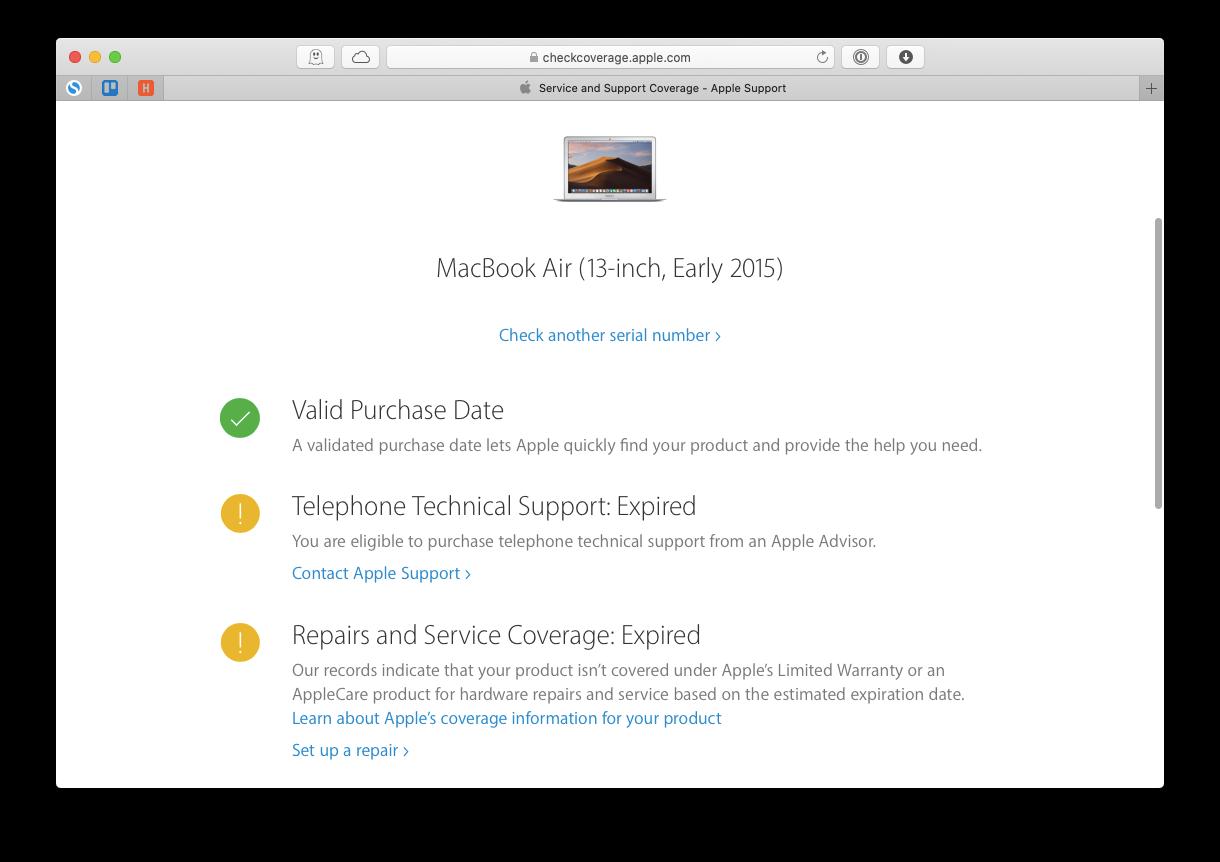 check coverage Apple Mac