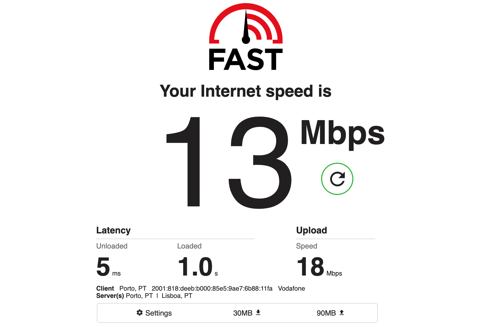 Check your Internet speed