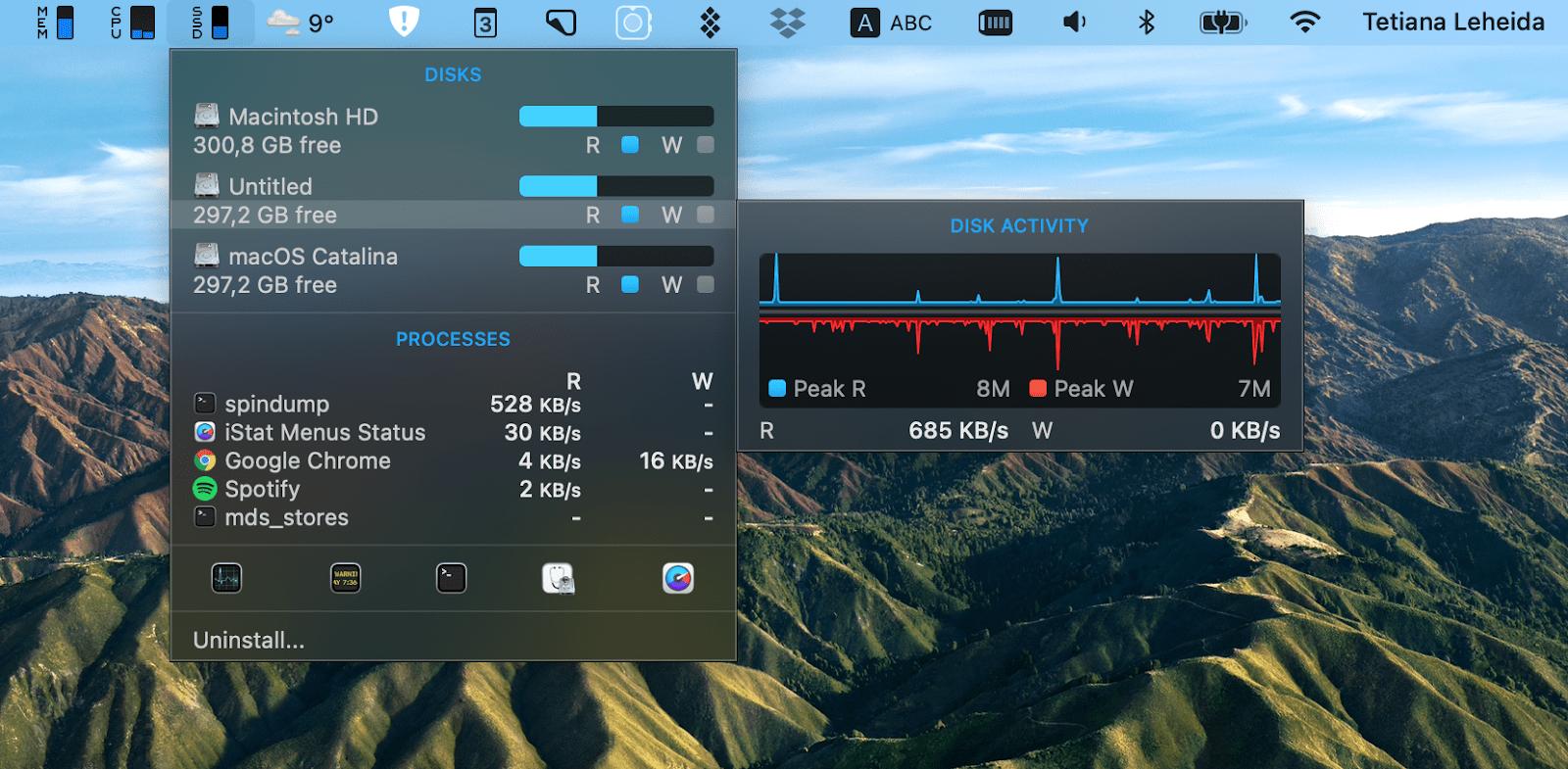 check processes iStat Menus