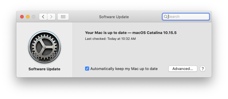 check system software updates Mac