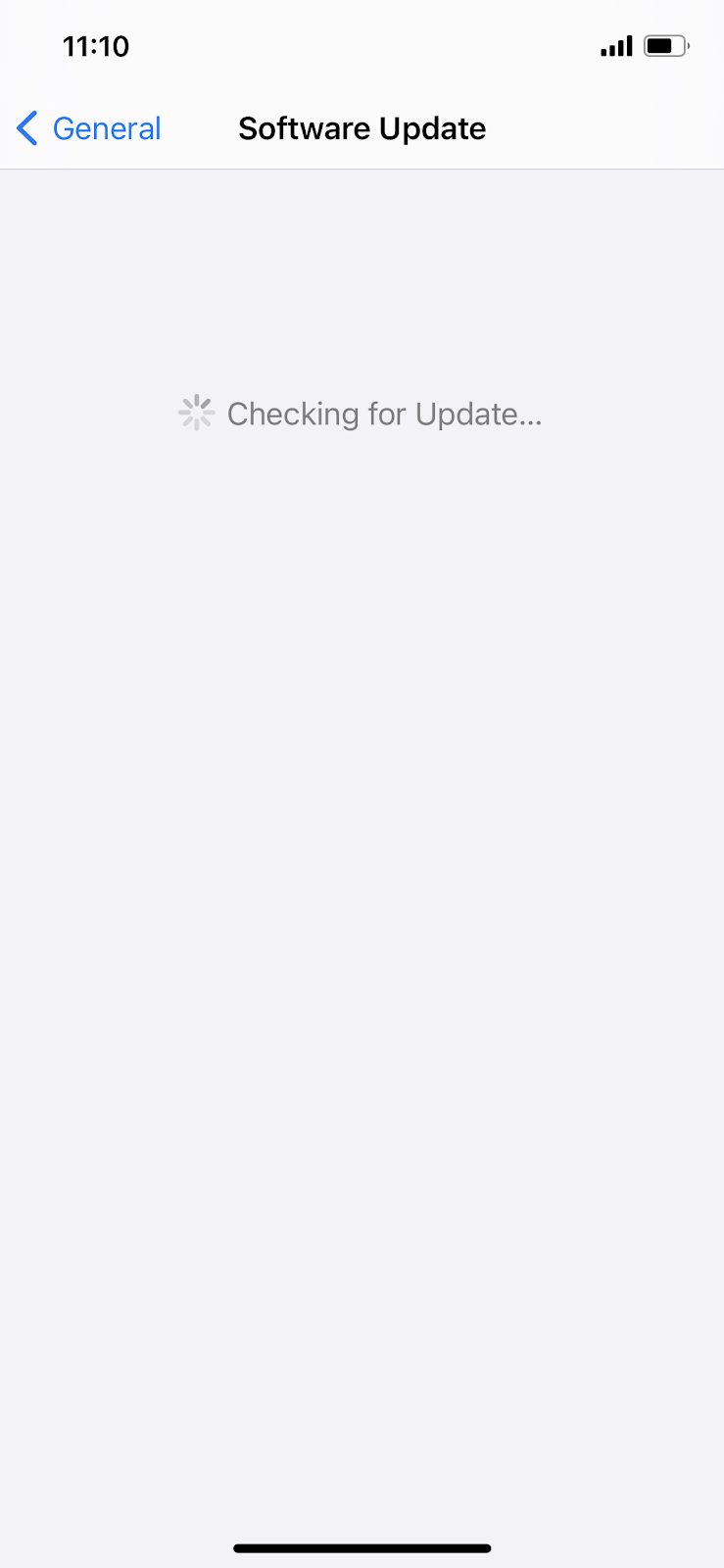 checking for software update ios 14