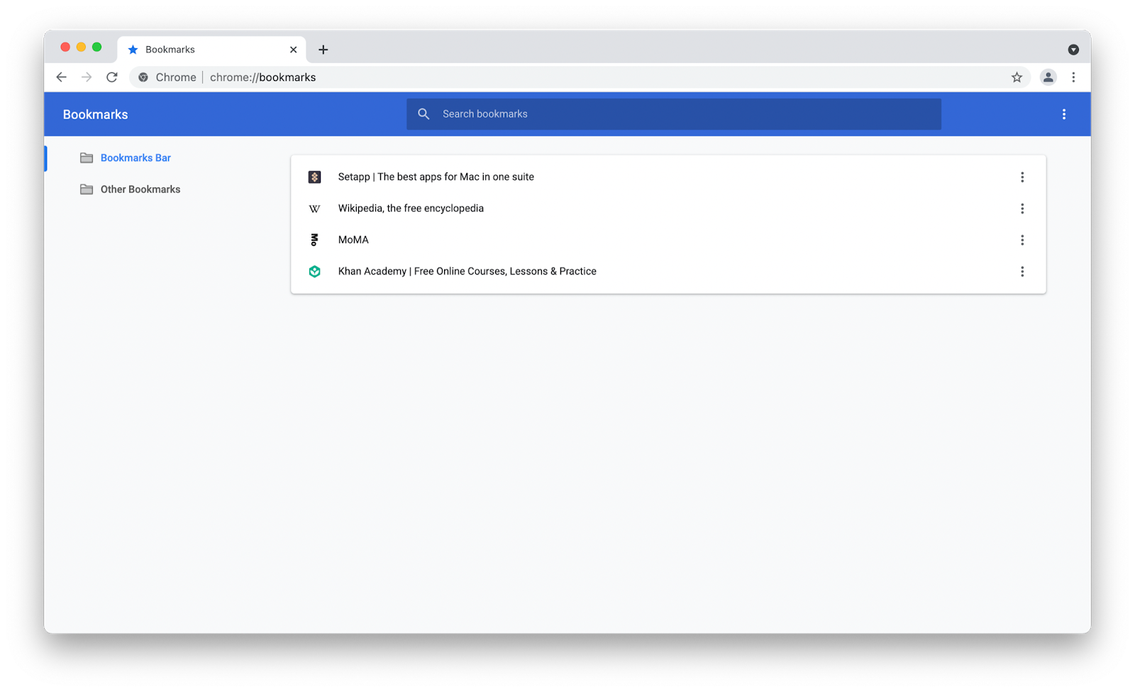 where is bookmark manager in chrome