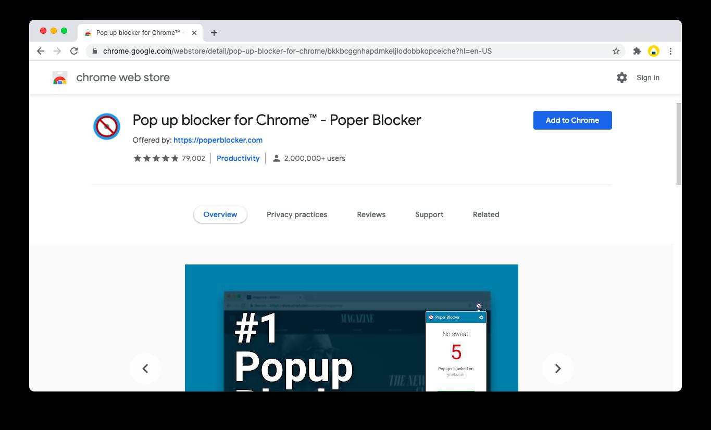 pop-up blocker extension