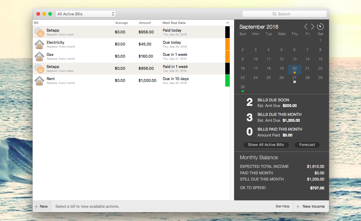 Manage bills with Chronicle