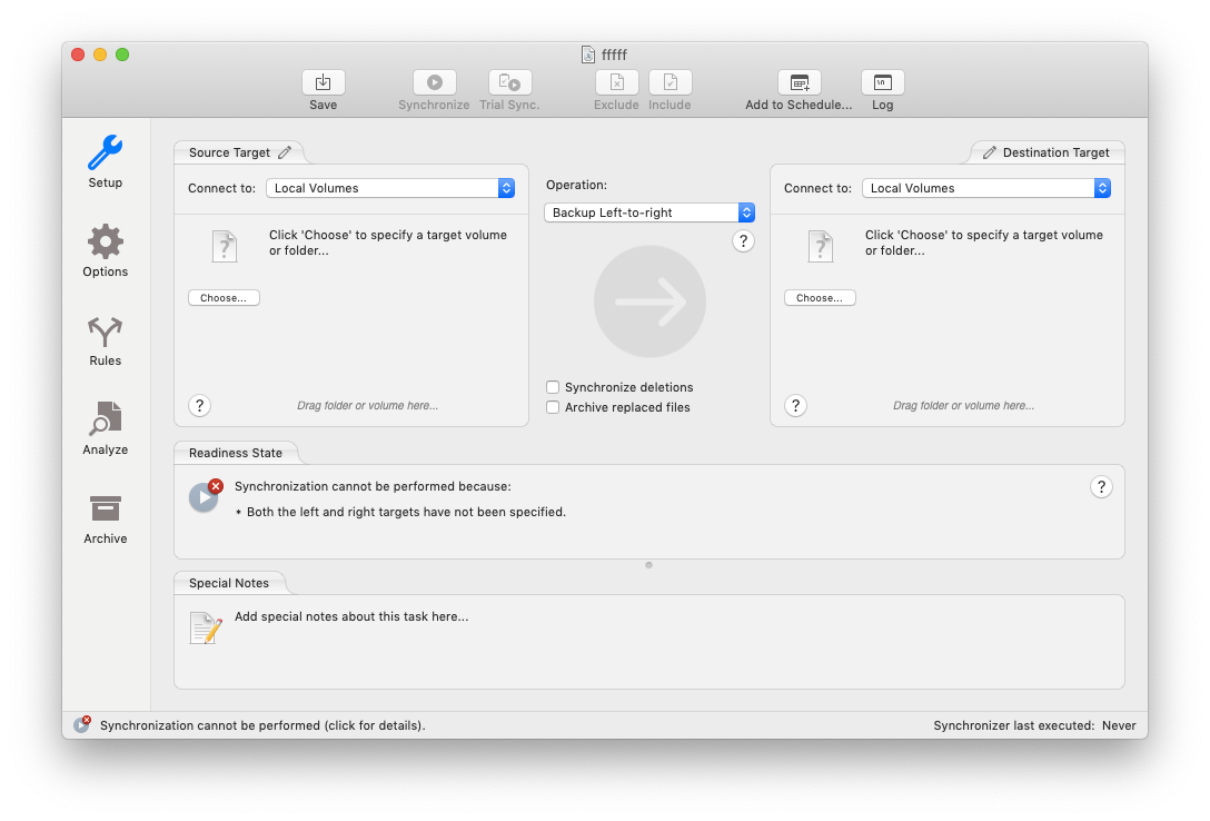 chronosync express mac sync folders
