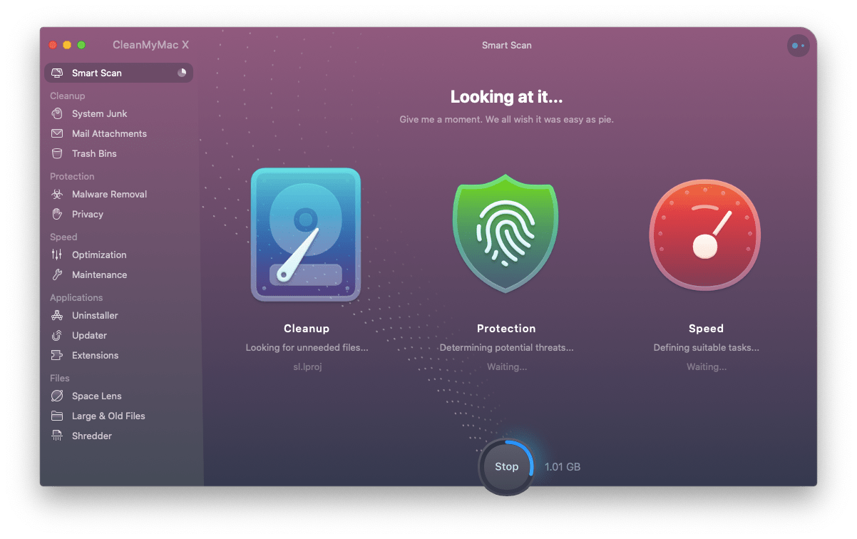 CleanMyMac X optimize Mac