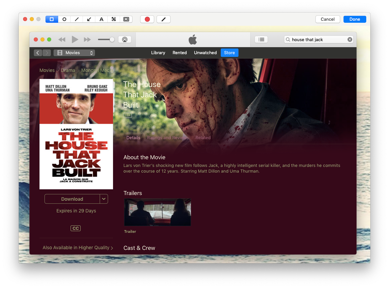 Cleanshot editing popup window