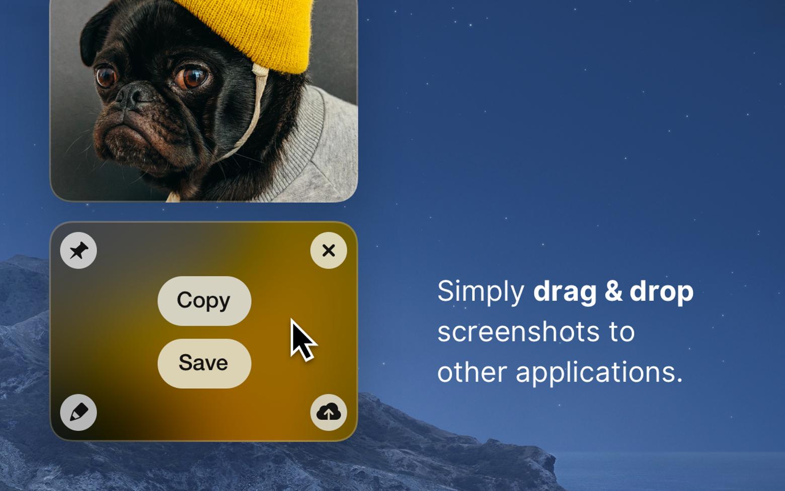 how to save screenshot with cleanshot mac