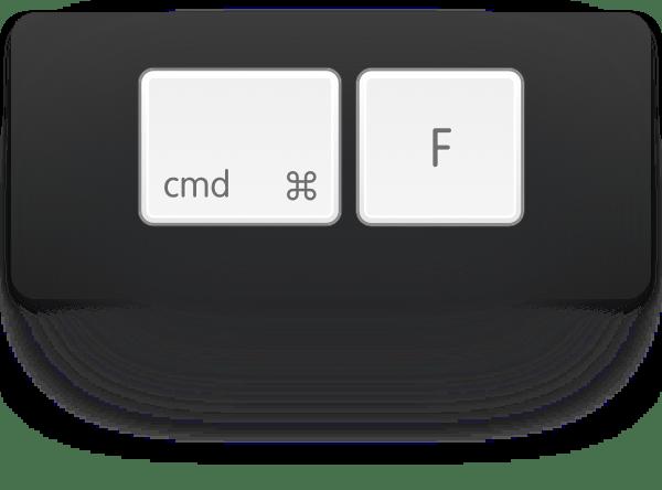 cmd-f