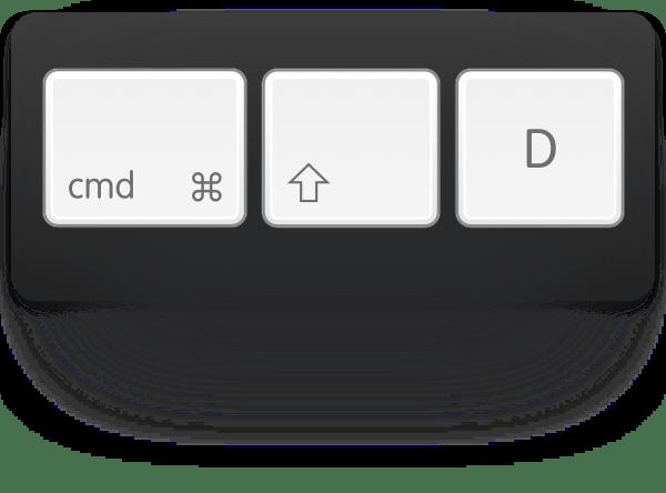 cmd-shift-d