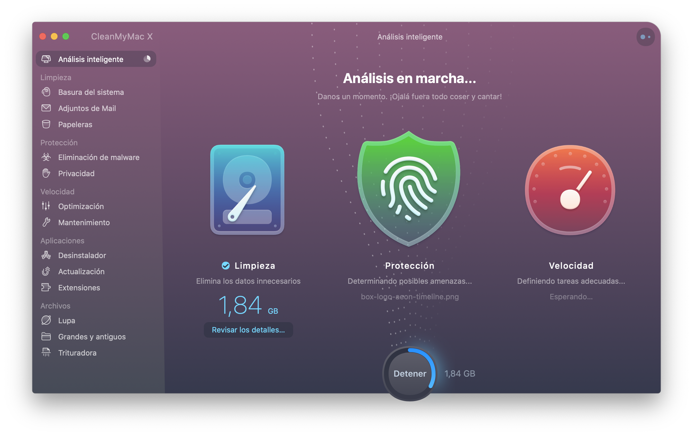 CleanMyMac X analisis inteligente