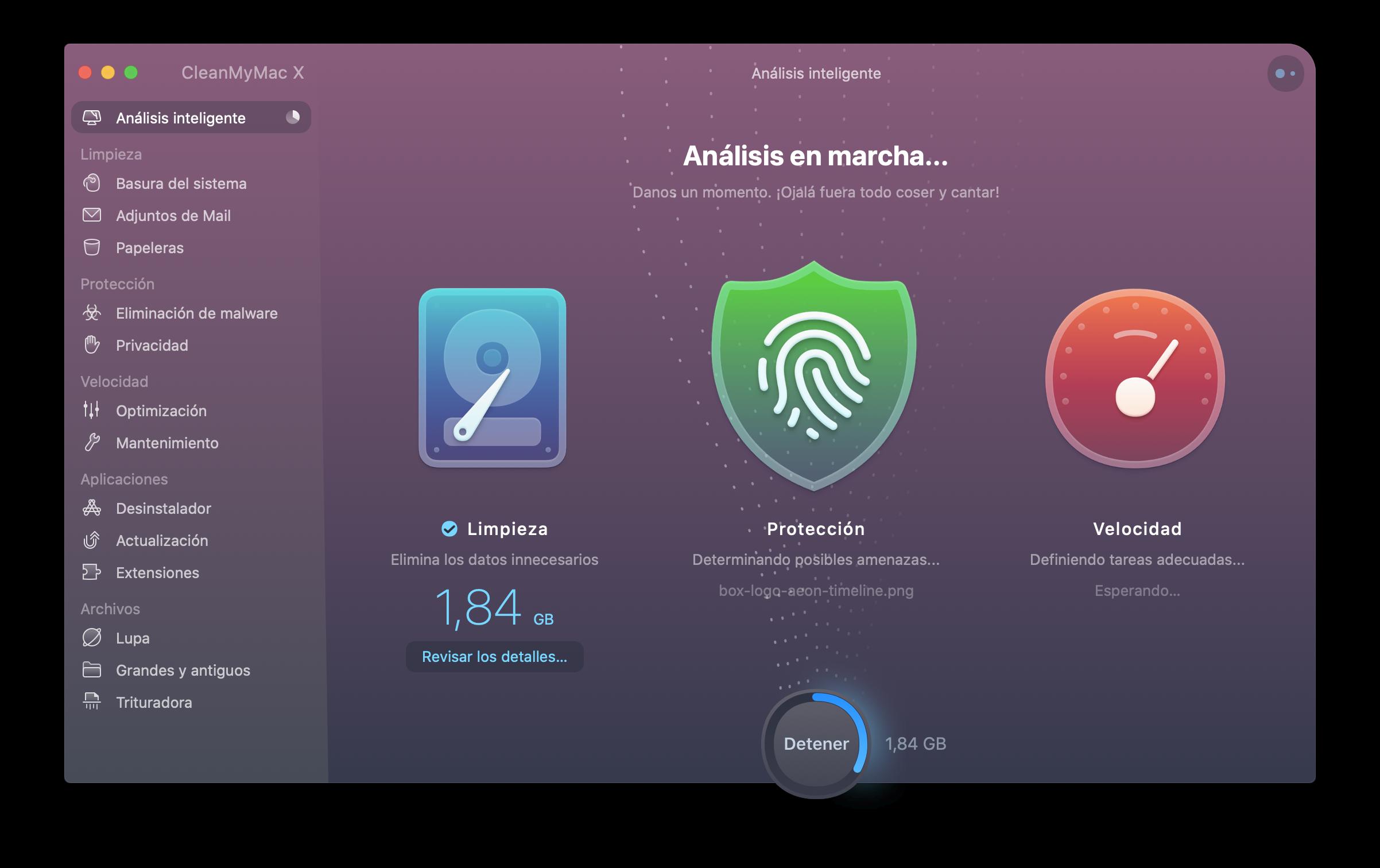CleanMyMac X Análisis inteligente en marcha