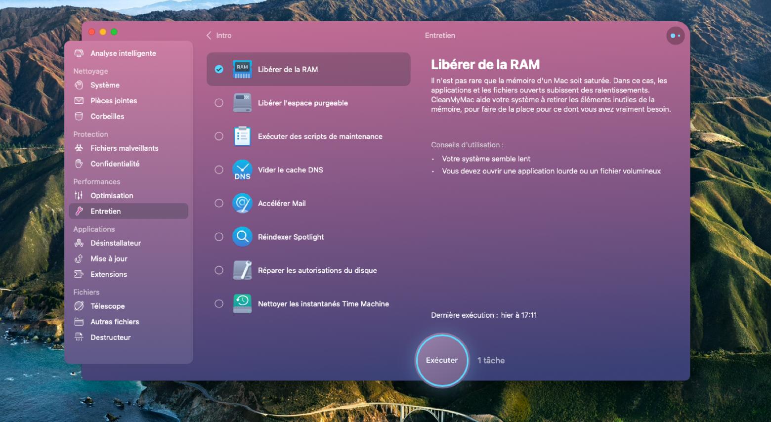 Libérez de la RAM avec CleanMyMac X