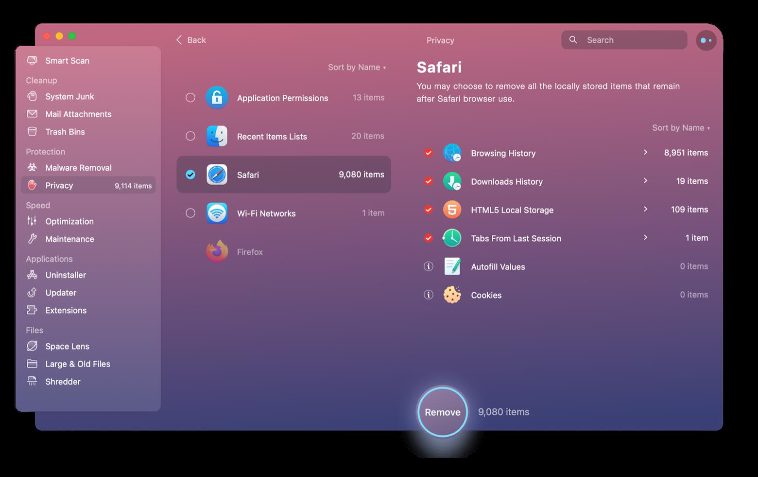 optimize Safari browser