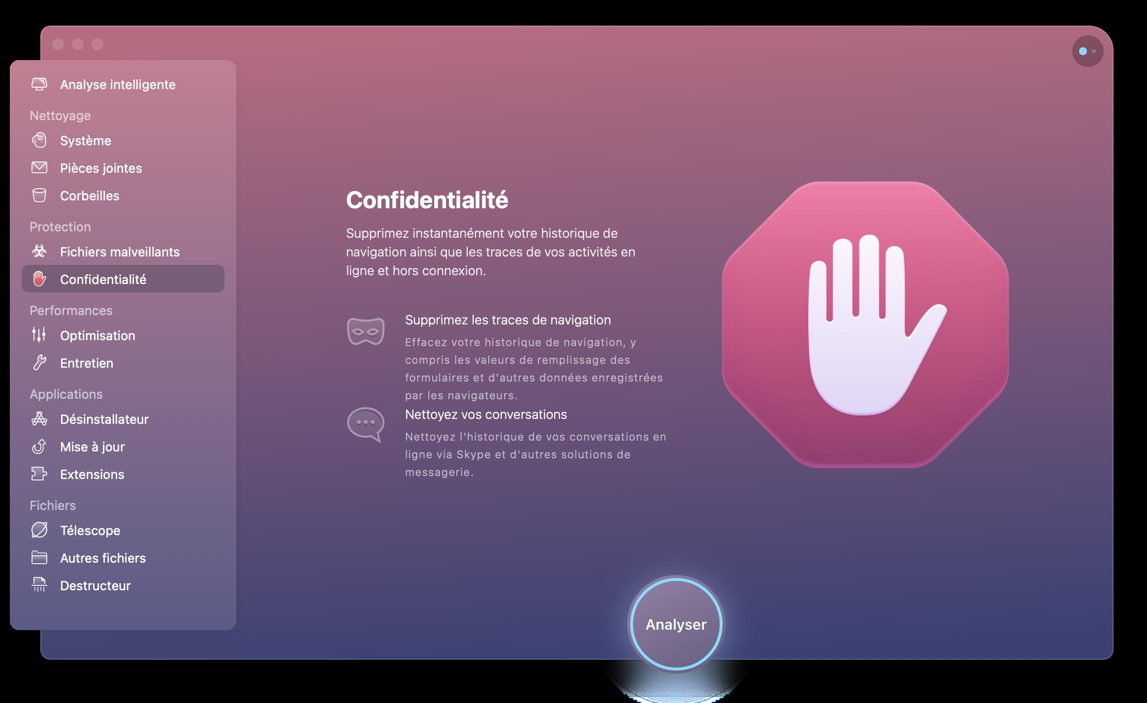 CleanMyMac X Confidentialité